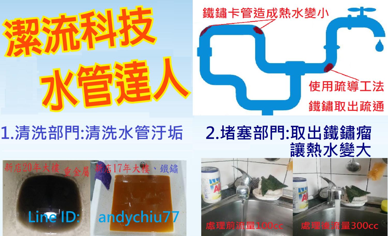 清洗水管推薦潔流科技-清水管達人,水管醫生,處理熱水小